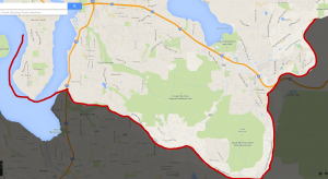 Service Area South of I-90 and Mercer Island